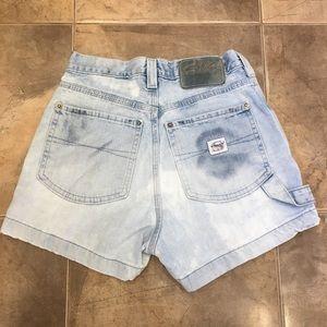 VTG High Waist Silver Jeans Denim Shorts Light 26